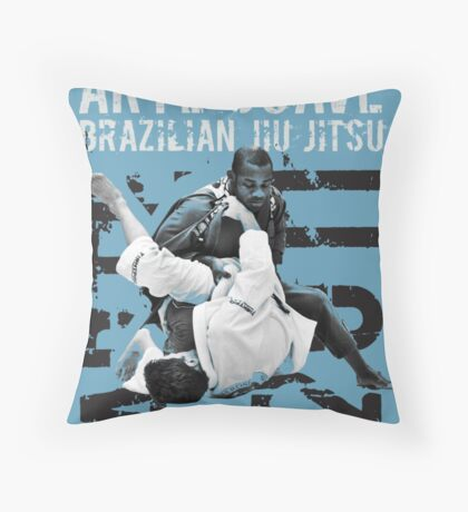 ARTE SUAVE RETRO JIU JITSU POSTER Throw Pillow