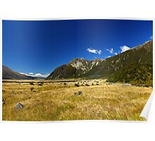 New Zealand's Hooker Valley Poster