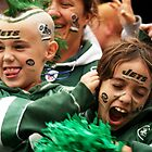 Crazed Fans - Kids at kickoff by Zachary Lynch