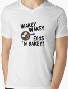 Wakey Wakey Eggs and Bakey Mens V-Neck T-Shirt