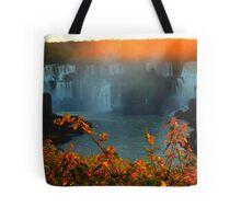 Sunset at Iguassy Falls Tote Bag
