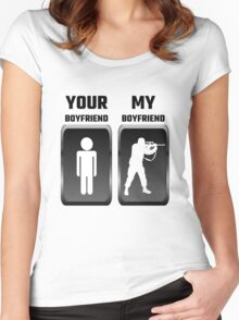 Your Boyfriend My Boyfriend Military Women's Fitted Scoop T-Shirt