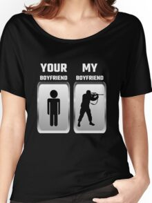 Your Boyfriend My Boyfriend Military Women's Relaxed Fit T-Shirt