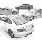BMW M3 (4 Generations) by Steve Pearcy
