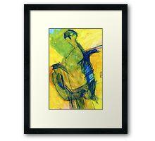 figures in landscape Framed Print