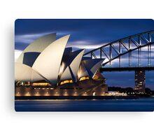 Sydney Opera House and Harbour Bridge Canvas Print