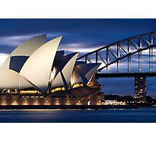 Sydney Opera House and Harbour Bridge Photographic Print
