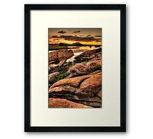 Hard Way To Sunset Framed Print
