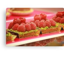 Eat Me - Raspberry and Pistachio Tart Canvas Print