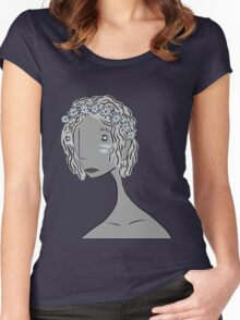 And She Had Flowers in Her Hair Women's Fitted Scoop T-Shirt