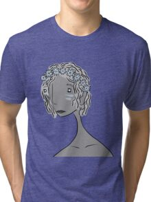 And She Had Flowers in Her Hair Tri-blend T-Shirt