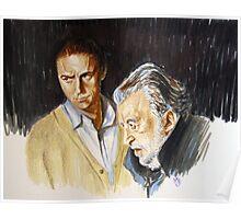 Avati e Marcorè-double portrait Poster
