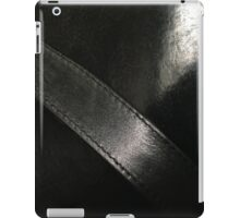 Pitch Black Vintage Italian Leather iPad Case/Skin