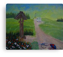 September. Latgalia. 3-30 p.m. Canvas Print