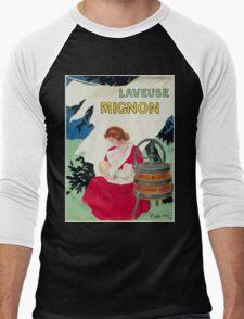 Leonetto Cappiello Affiche Laveuse Mignon Men's Baseball ¾ T-Shirt