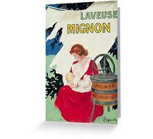 Leonetto Cappiello Affiche Laveuse Mignon Greeting Card