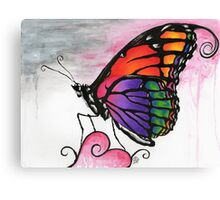 Rainbow Monarch Butterfly Fantasy Art Canvas Print