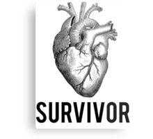 Heart Health Survivor Metal Print