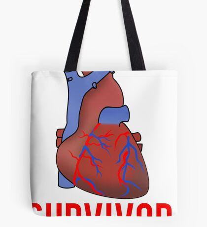 Heart Health Survivor Tote Bag