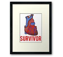 Heart Health Survivor Framed Print