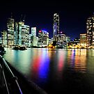 Brisbane City Lights From Captain Burke Park by Alwyn Simple