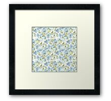 Branch with delicate flowers.  Color 2 Framed Print