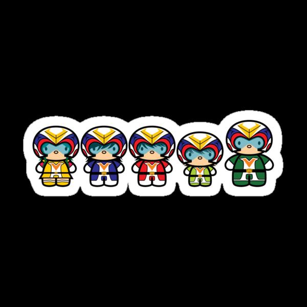 Chibi-Fi Voltes Team by Eozen