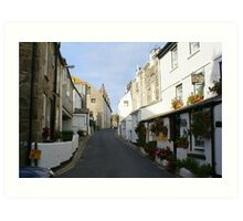St Ives Cornwall streetscape Art Print