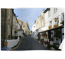 St Ives Cornwall streetscape Poster