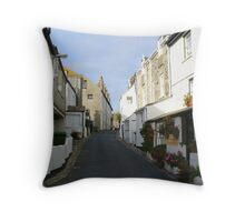 St Ives Cornwall streetscape Throw Pillow