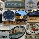 St Ives (Cornwall) signs collage by BronReid