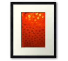 Red Snowflakes Framed Print