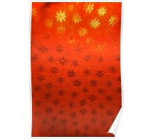 Red Snowflakes Poster
