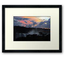 Iguassu Falls Sunset Framed Print