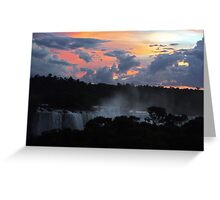 Iguassu Falls Sunset Greeting Card