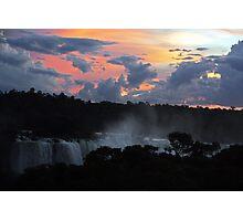 Iguassu Falls Sunset Photographic Print