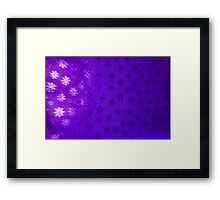 Purple Snowflakes Framed Print