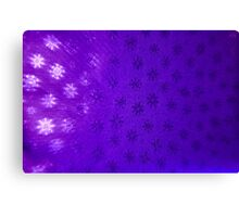 Purple Snowflakes Canvas Print