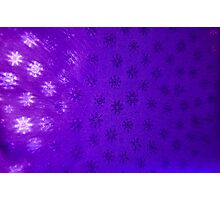 Purple Snowflakes Photographic Print