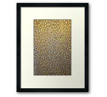 Golden Texture Framed Print