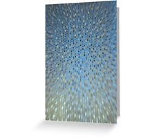 Abstract Background - Blue / Golden Greeting Card