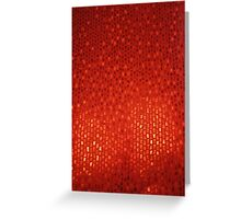 Red Abstract Background Greeting Card