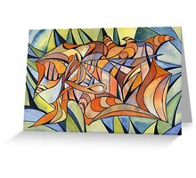 100 - SWIRLING COLOURS - DAVE EDWARDS - WATERCOLOUR - MAY 2003 Greeting Card