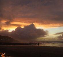 Sunset over Westward Ho! by fiw93