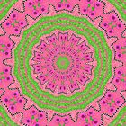 Pink and Green Kaleidoscope by WeeZie