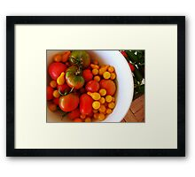 We're all tomatoes here.... Framed Print
