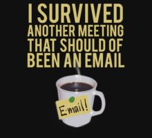 I SURVIVED ANOTHER MEETING THAT SHOULD OF BEEN A MEETING by mralan