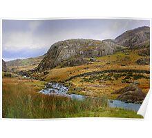 Llanberris Pass Snowdon North Wales Poster