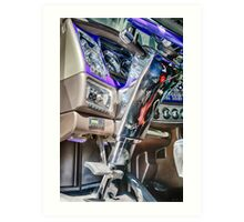 BIG RIG INTERIOR Art Print