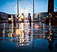 The Liverpool eye in the rain by SJAPhoto